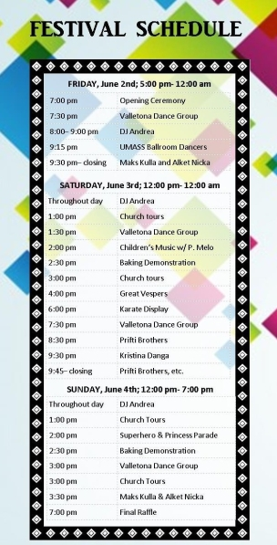 Albanian Festival 2017 Schedule